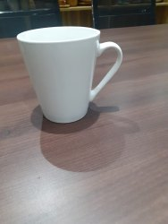 White Plain Sublimation Conical Mug, Capacity: 300 mL