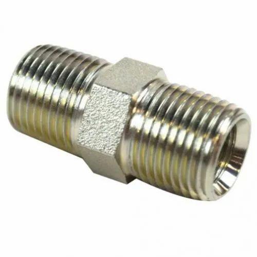 ATAUFF Silver Hydraulic Hex Nipple, for Hydraulic Pipe