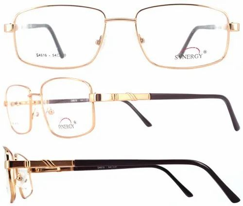 Synergy Male Popular Fashionable High Quality Metal Eyeglasses-4616, Size: 54 , 56 mm