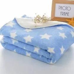 Little Cubs Star Print Fleece Baby Blanket
