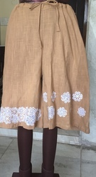 Brown Plain Cotton Palazzo, Waist Size: 40 inches, Packaging Type: Bag