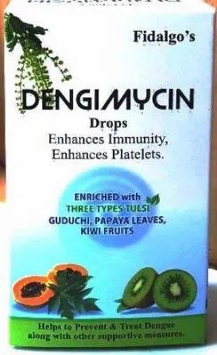 Dengimycin Drops, Packaging Type: Bottle, Grade Standard: Medicine Grade