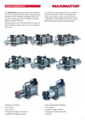 MAXIMATOR Air Driven Gas booster