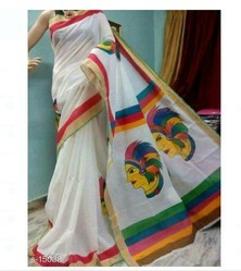 Ladies Designer White Saree