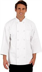Cotton White Chef Jackets, For Hotels, Size: Large