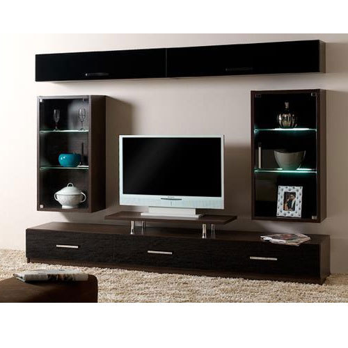 Pvc modular tv showcase television cabinet ruthika - Living room showcase designs images ...