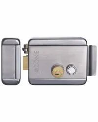 Ozone Brass Electric Rim Lock, Stainless Steel