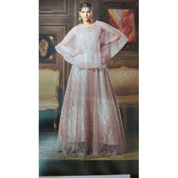 Embroidered Pink Cape Anarkali Suits