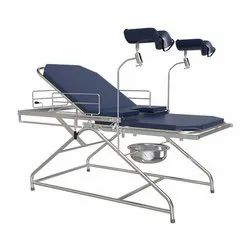 Examination Couch - (EXC - 402) - Stainless Steel Frame Work With Lithotomy