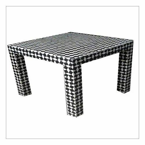 Indian Bone Inlay Coffee Table