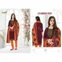 Laado Cotton Ladies Printed Churidar Suit, Handwash