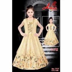 Net Satin Party Wear Adaa Kids Gown