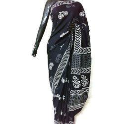 Printed Cotton Chikankari Saree