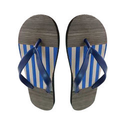 Mens Striped Rubber Slippers, Size: 9