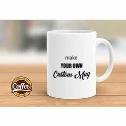 White Bone China Customizable Coffee Mug