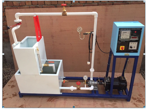 GEAR PUMP TEST RIG (VARIABLE SPEED WITH SWINGING FIELD DYNAMOMETER)
