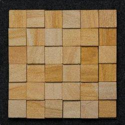 Teak Sandstone Pillar Mosaic