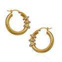 Round Gold Trendy Earring