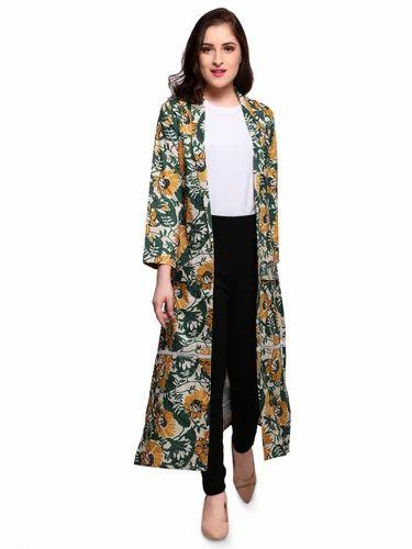 93b95ab84ab7d Casual Wear Printed Smarty Pants Women Multi Colour Floral Print Long Shrug
