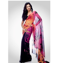 Casual Printed Fancy Sarees, Machine Made ,Packaging Type: Box