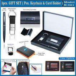 3Pcs Gift Set(Card,Pen & Keychain) H-901