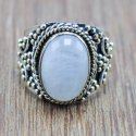 Labradorite Gemstone 925 Silver And Brass Jewelry Adjustable Ring