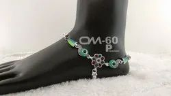 Ornament Silver Anklet
