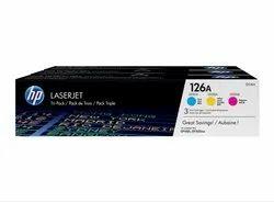 HP 126A 3 Pack Original LaserJet Toner Cartridge