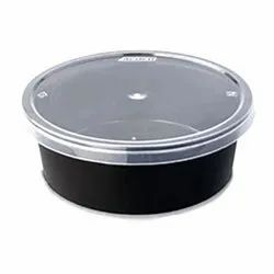Round 250ml Disposable Plastic Food Container, For Event and Party Supplies, Capacity: 250 Ml