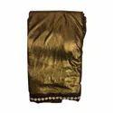 Ladies Golden Lycra Saree