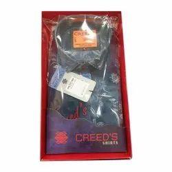 Creed's Collar Neck Mens Denim Printed Shirt, Size: 38 - 42