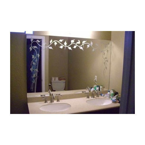 Transparent Stylish Etched Mirror Size 8 X 4 Inch Rs 550 Square Feet Id 15710233073