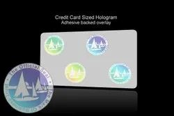 Holographic Overlay For Plastic Cards