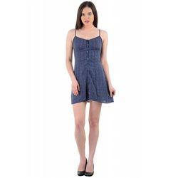 Blue Surplus Mini Dress
