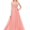 Peach Ladies Dress