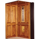Eon Glass Traction Elevator G 4( Wooden Finish)