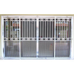 Silver Stainless Steel Grill Gate