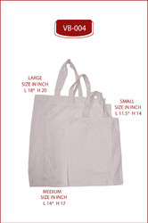 COMBO 3 SIZE CLOTH CARRY BAG.WHITE FABRIC CARRY BAG