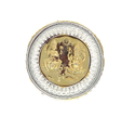 Laxmi Ganesh Gold Polish Round Silver Coin 10 gm.
