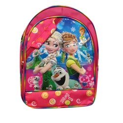 Pink, Also Available In Blue Nylon Kids School Printed Bag