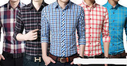 Long Sleeve Collar Neck Men''S Casual Cotton Shirts