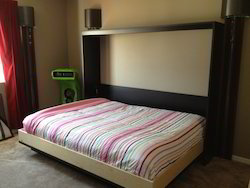 Wall Mount Wooden Single Bed