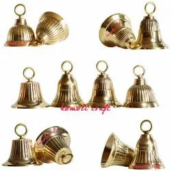 Small Designer Hand Crafted Home Decoration Brass Bell Golden Silver Custom Color