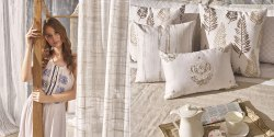 Sarom Verbena Embroidery Curtain for Door / Window