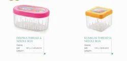 Nakoda Plastic Thread and Needle Box, For Home