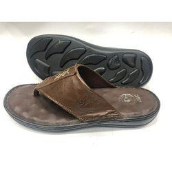 PVC Dark Brown Acupressure Slippers, Size: 7 - 10