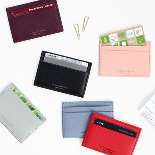 Multicolor Vegan Leather Compact Card Holder