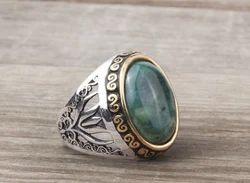 Gemstone Sterling Silver Ring