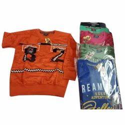 Boy Kids Round Neck Woolen T Shirt