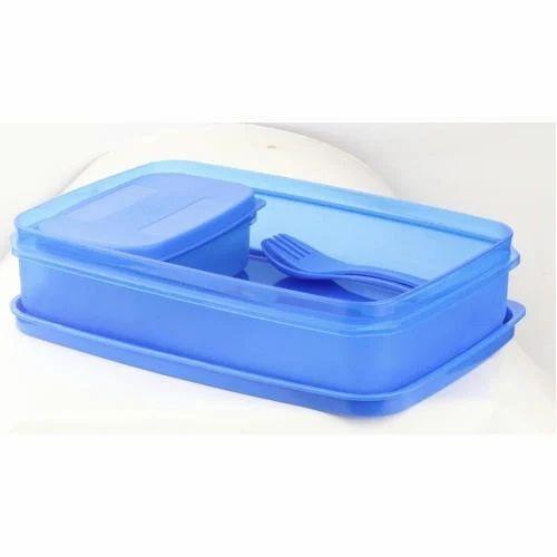 cdb25cdf09 Blue Plastic School Lunch Box, Rs 25 /piece, Monu Plastic | ID ...